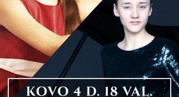 """Jaunieji """"Vaidilos klasikos"""" talentai: Gabrielė Agilė Bajoraitė ir Anastasija Šumskaitė"""