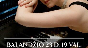 """Jaunieji """"Vaidilos klasikos"""" talentai: pianistė Agnė Radzevičiūtė"""
