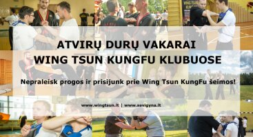 Atvirų durų vakaras Wing Tsun KungFu klube Kaune