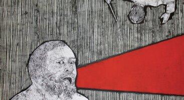 """Kristinos Norvilaitės grafikos darbų paroda """"Aš klausausi muzikos"""""""