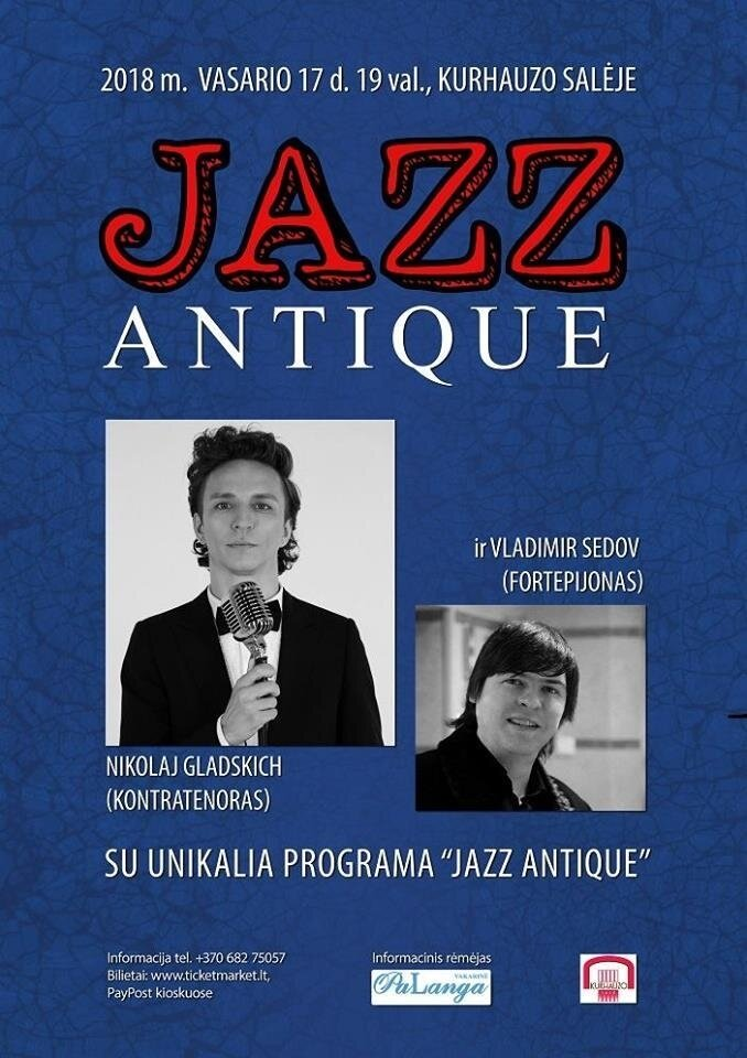 Nikolajus Gladskich (kontratenoras) su programa JazzAntique