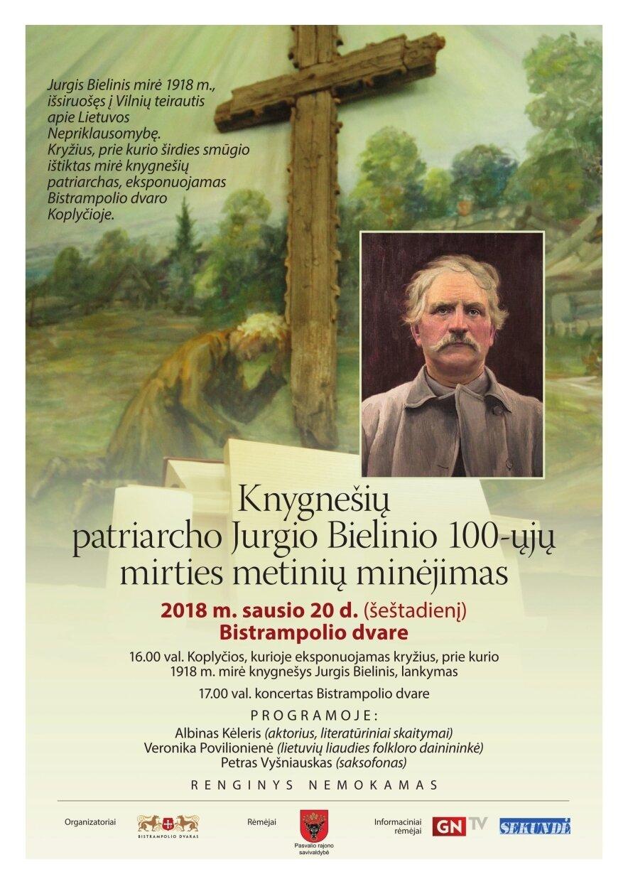 Knygnešio Jurgio Bielinio 100-ųjų mirties metinių minėjimas