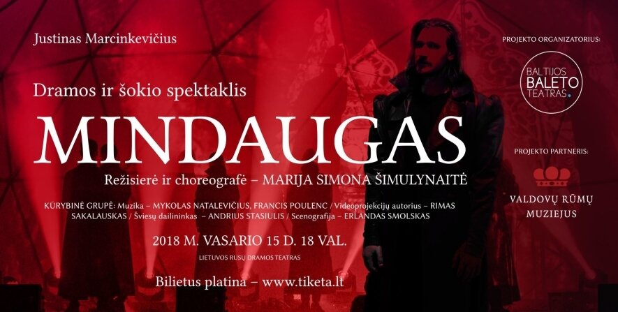 "J. Marcinkevičiaus ""Mindaugas"" - Lietuvos 100-iui!"
