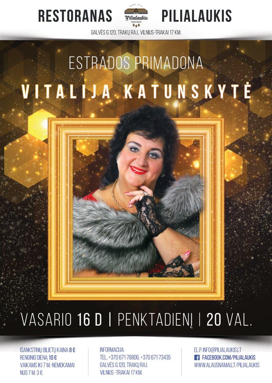 Estrados primadona Viltalija Katunskytė