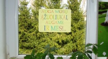 """Ekologinio konkurso vaikams """"Mano žalioji palangė"""" nugalėtojų apdovanojimas"""
