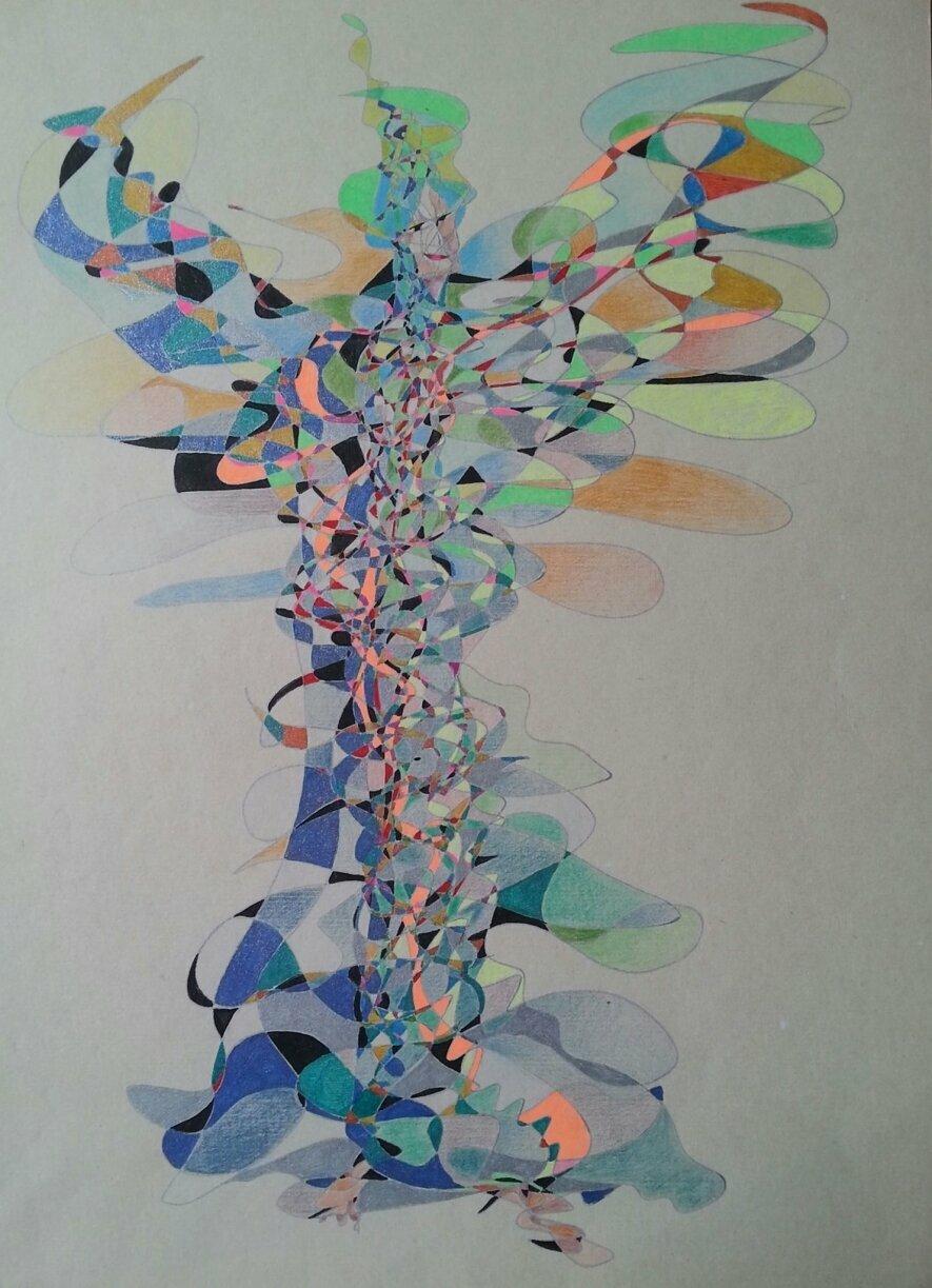 Fraktalinis piešimas - kelias į save per spalvas ir formas