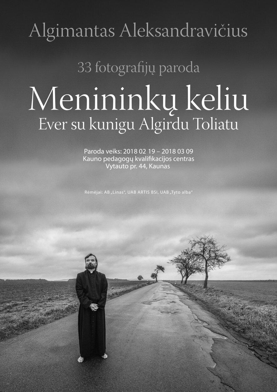 """Algimanto Aleksandravičiaus fotografijų paroda """"Menininkų keliu Ever su kunigu Toliatu"""""""