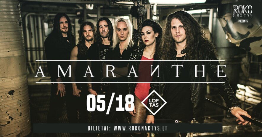 Roko naktys presents: Amaranthe (SE) + guests