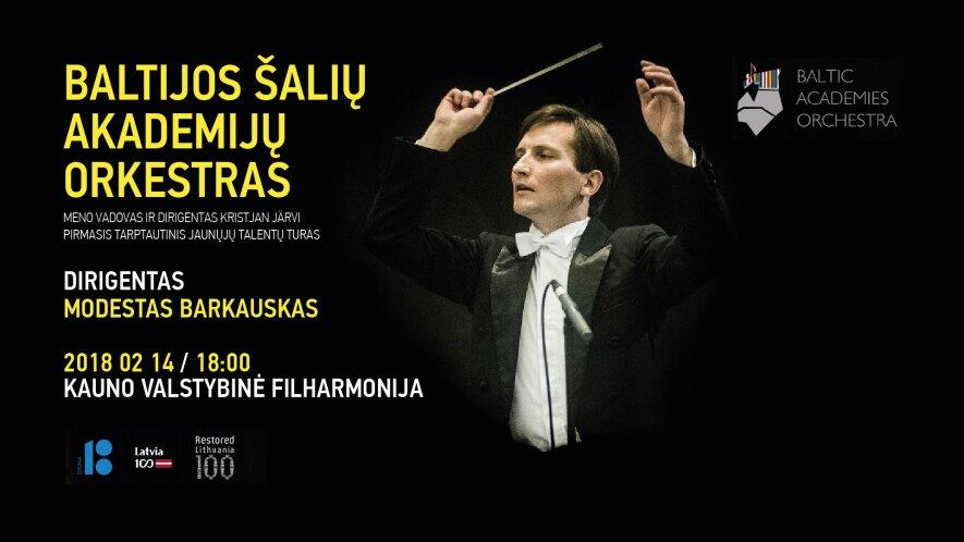 Baltijos šalių akademijų orkestro (BAO) koncertas Kaune