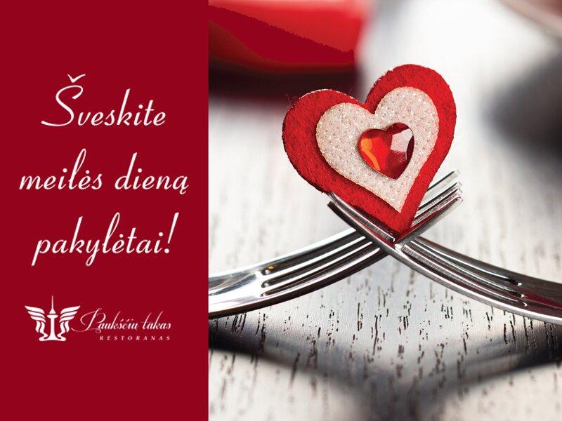 """Valentino dieną restorane """"Paukščių takas"""""""