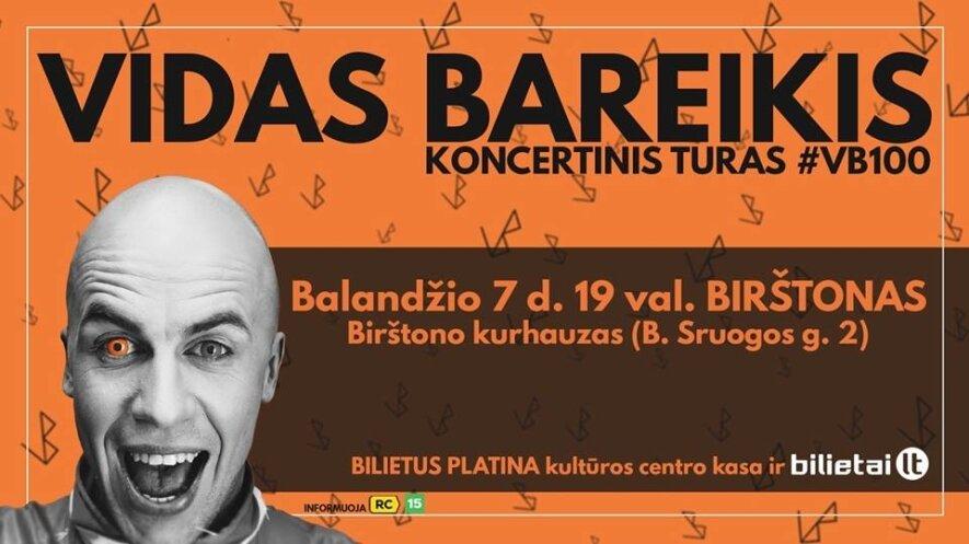 Vidas Bareikis. Koncertinis turas #VB100