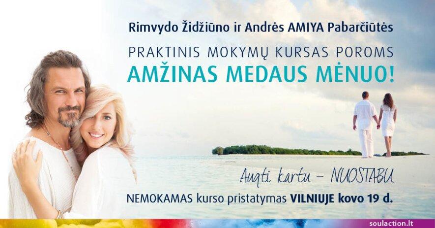 """NEMOKAMAS KURSO POROMS """"AMŽINAS MEDAUS MĖNUO"""" PRISTATYMAS!"""