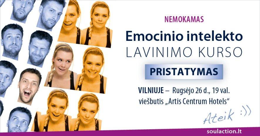 Nemokamas Emocinio intelekto lavinimo kurso pristatymas Vilniuje!
