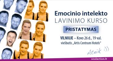 NEMOKAMAS Emocinio intelekto lavinimo kurso pristatymas Vilniuje