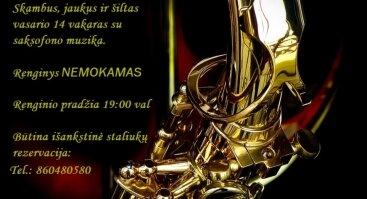 Valentinas su saksofonu