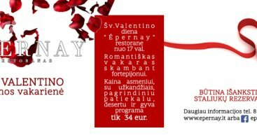 Šv.Valentino dienos VAKARIENĖ (Valentino diena)