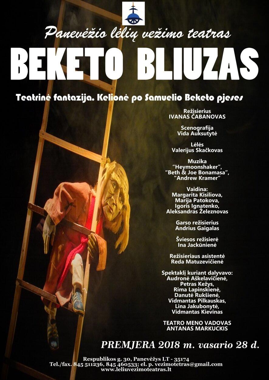 """PREMJERA. Teatrinė fantazija """"BEKETO BLIUZAS"""". Kelionė po Samuelio Beketo pjeses."""