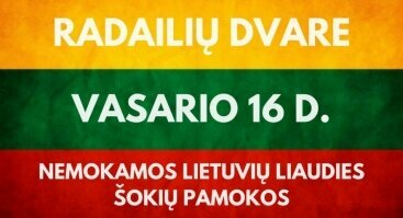 Vasario 16-oji su lietuvių liaudies šokiais