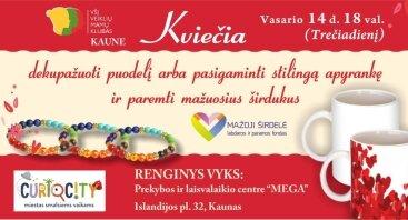 """Veiklių mamų klubo Kaune """"Šv. Valentino diena"""""""