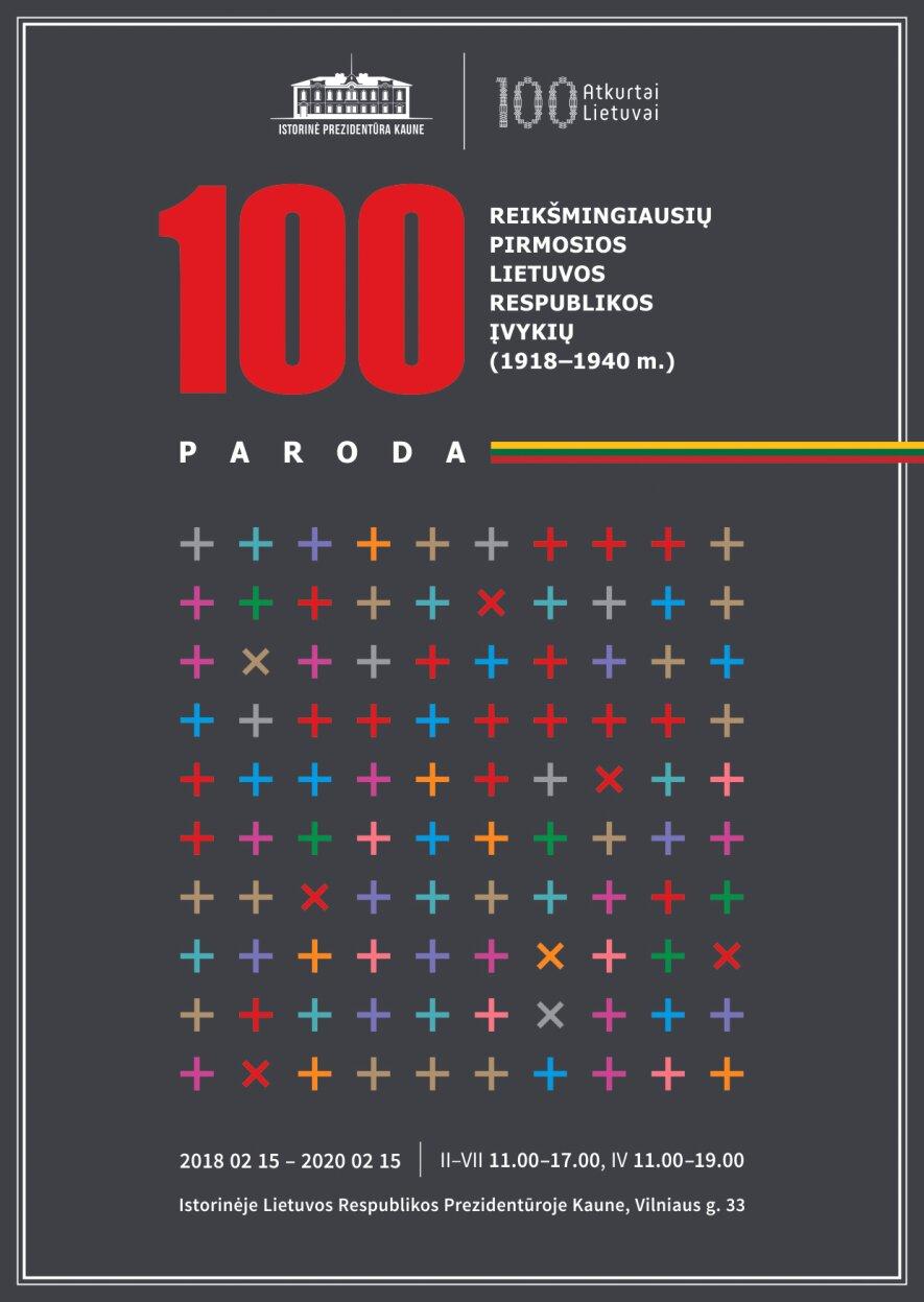 """""""100 reikšmingiausių Pirmosios Lietuvos Respublikos įvykių"""""""