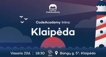 CodeAcademy intro Klaipėda