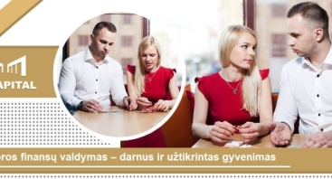 """Seminaras """"Poros finansų valdymas – darnus ir užtikrintas gyvenimas"""""""