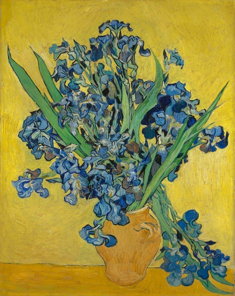 """V. Van Gogh paveikslo """"Irisai"""" improvizacija"""