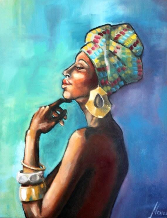 """Tapybos improvizacija """"Afrikietė"""""""