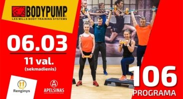 Body Pump 106 programos pristatymas