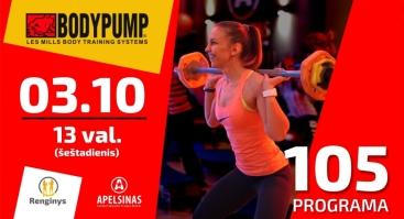 Body Pump 105 programos pristatymas