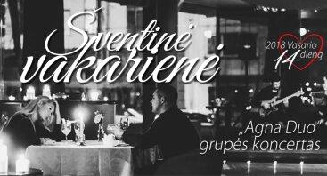 Šventinė Valentino dienos vakarienė