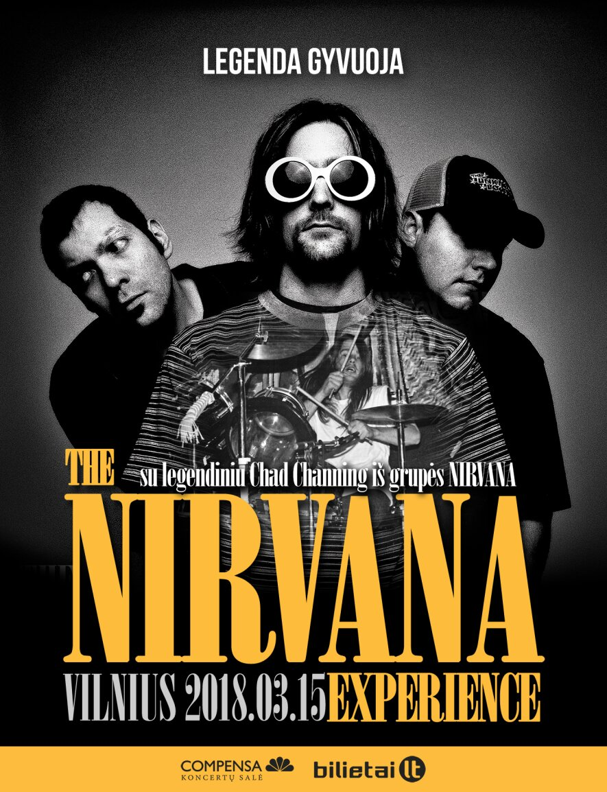 The Nirvana Experience ft. Chad Channing Vilniuje