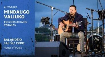 Autorinis Mindaugo Valiuko poezijos ir dainų koncertas