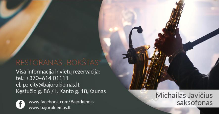 Saksofono vakaras su Michailu Javičiumi