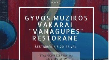 """Gyvos muzikos vakarai """"Vanagupės"""" restorane"""