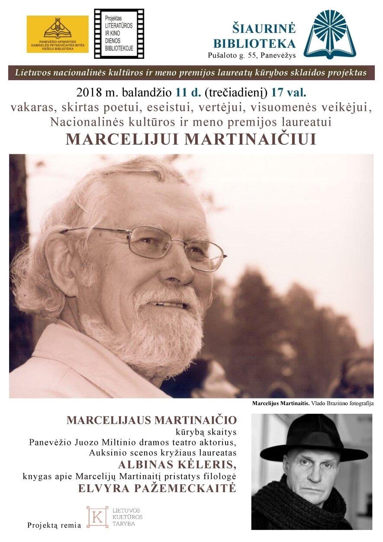 Vakaras, skirtas Marcelijui Martinaičiui