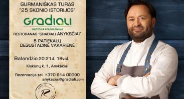 """Degustacinė vakarienė """"25 skonio istorijos"""" su šefu Ruslan Bolgov"""
