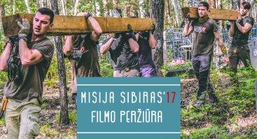 """Dokumentinio filmo """"Misija Sibiras'17. Iš mokyklos suolo į ekspedicijos traukinį"""" pristatymas Šiauliuose"""