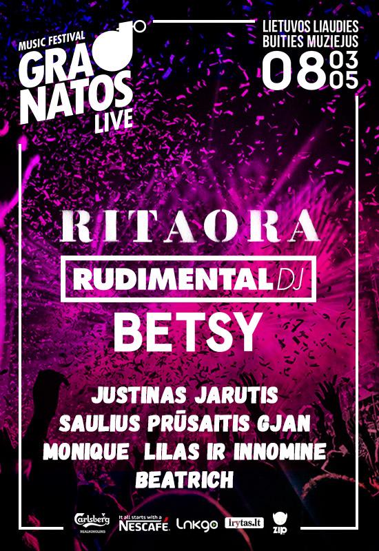 """Didžiausias Lietuvos muzikos festivalis """"Granatos Live 2018"""""""