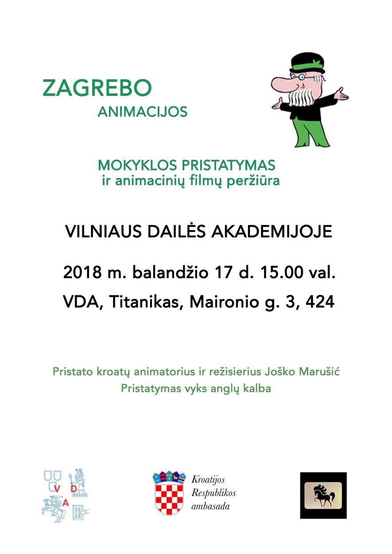 Zagrebo animacijos mokyklos pristatymas ir animacinių filmų peržiūra