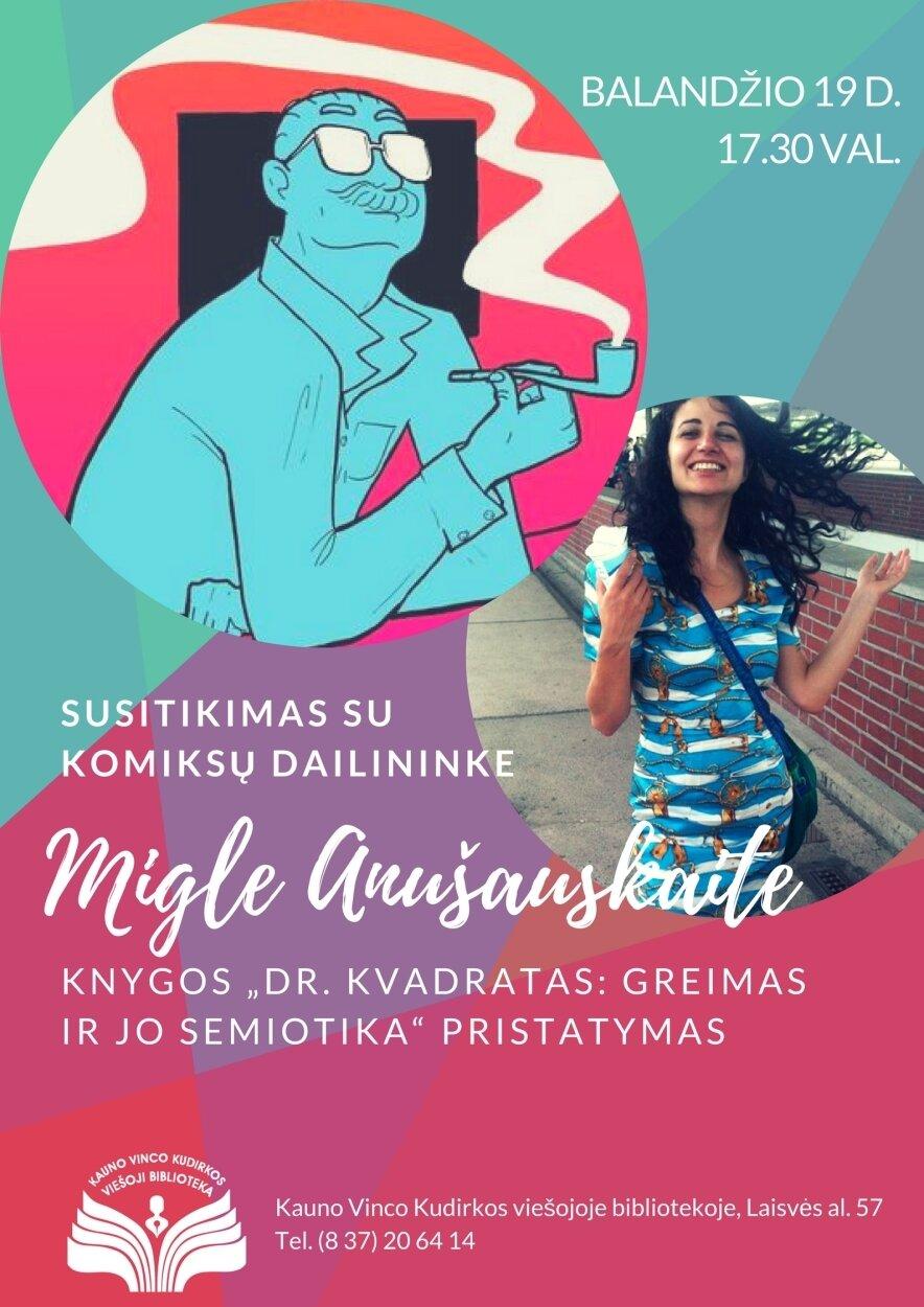 Susitikimas su komiksų dailininke Migle Anušauskaite