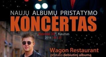 """Nėriaus Pečiūros albumo """"EDM"""" ir grupės """"Wagon Restaurant"""" albumo pristatymo koncertas"""