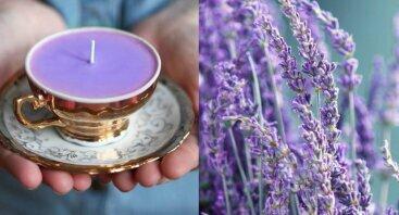 Sukurk ir padovanok levandų žvakę MAMAI