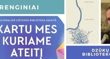 """Mariaus Buroko poezijos knygos """"Švaraus buvimo"""" pristatymas"""