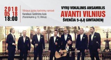 """Vyrų vokalinio ansamblio """"Avanti Vilnius"""" 5 gimtadienis"""
