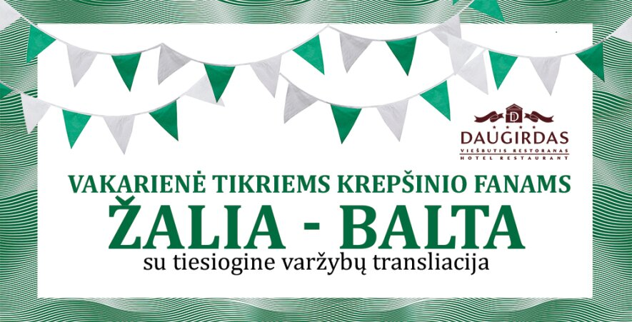 """Hanzos dienos 2018: Vakarienė """"Žalia-Balta"""""""