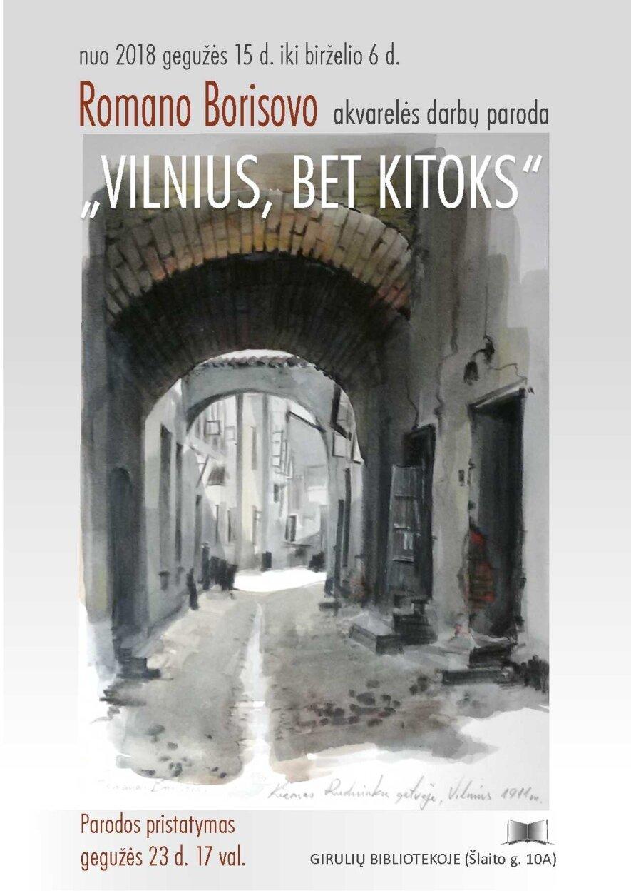 """Parodos """"Vilnius, bet kitoks"""" pristatymas"""