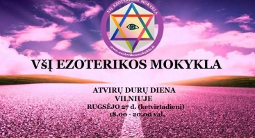 ATVIRŲ DURŲ DIENĄ Vilniuje - VšĮ EZOTERIKOS MOKYKLA