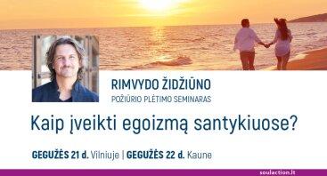 """Rimvydo Židžiūno požiūrio plėtimo seminaras """"Kaip įveikti egoizmą santykiuose?"""""""