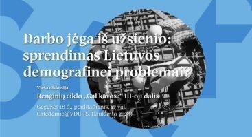 Darbo jėga iš užsienio: sprendimas Lietuvos demografinei problemai?